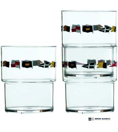 Vasos náuticos irrompibles Regata Decoración Mar