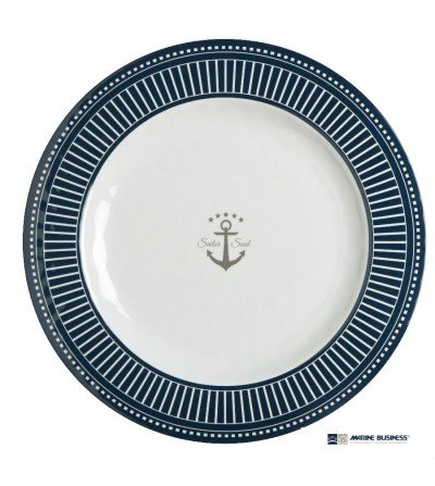 Plato plano marinero Sailor de melamina Decoracion Mar