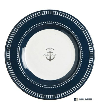 Plato marinero para postres irrompible Sailor Decoración Mar