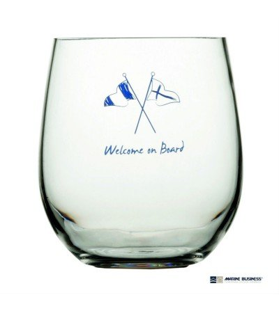 Vasos marineros irrompibles Welcome On Board Decoración Mar