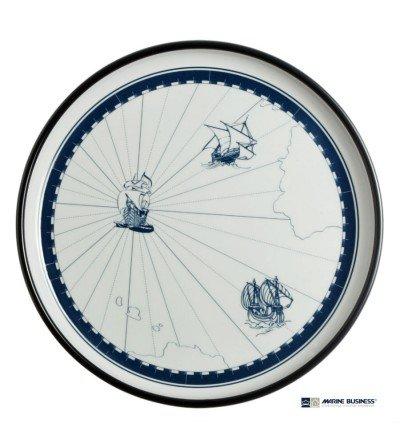 Plato plano marinero Columbus de melamina Decoración Mar