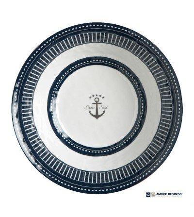Ensaladera náutica irrompible con cubiertos Sailor Soul Decoración Mar