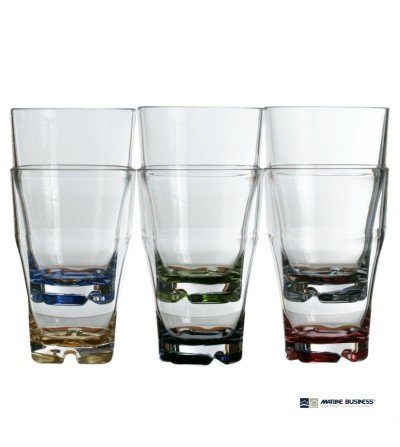 Vasos apilables para refresco con base de colores  Decoración Mar