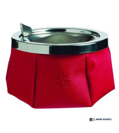 Cenicero náutico antideslizante rojo con tapa