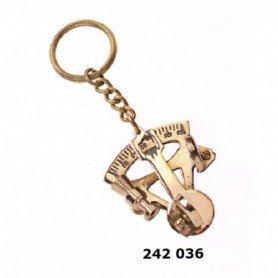 Llavero latón sextante náutico