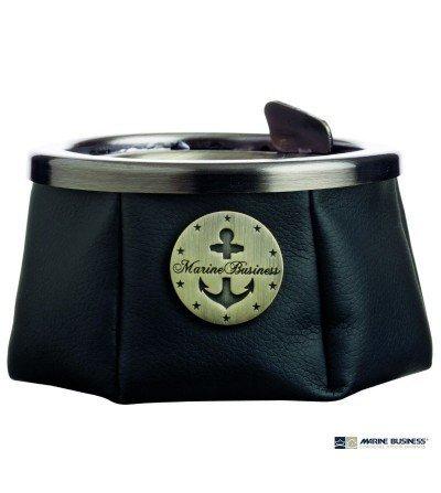 Cenicero náutico antideslizante con tapa negro en Decoración Mar