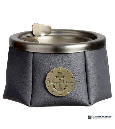 Cenicero náutico Premium antideslizante gris oscuro con tapa en DecoraciónMar