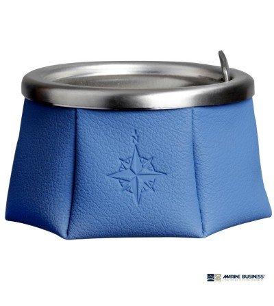Cenicero náutico antideslizante azul con tapa en Decoración Mar