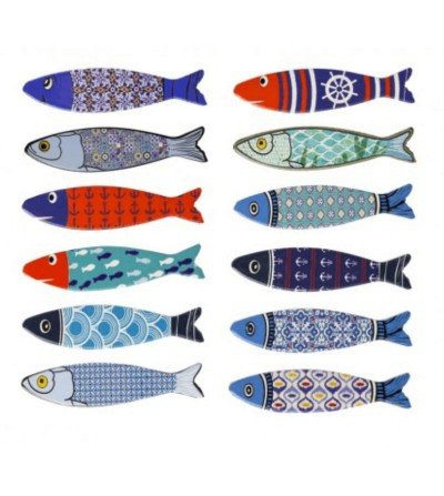 Imanes de peces variados para la decoración marinera