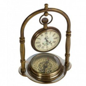 Reloj náutico con brújula en DecoracionMar.com