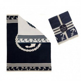 Manta marinera de algodón 'Ancla' en DecoraciónMar.com
