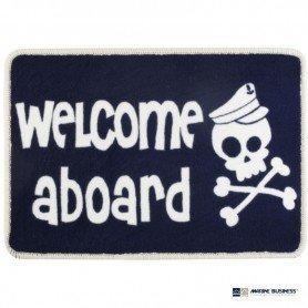 Alfombra náutica antideslizante Marine Welcome Aboard en Decoración Mar