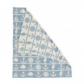 Manta marinera de algodón azul en decoracionmar.com