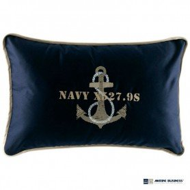 Cojín náutico con funda 'Anchor Navy' Marine Business en decoracionmar.com para decoración náutica