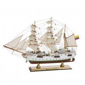 Maqueta de barco fragata Arc Gloria pequeña en decoracionmar para decoración náutica y marinera