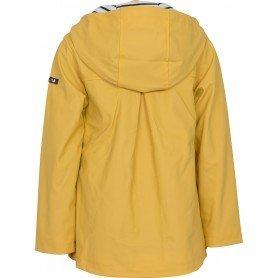 Chubasquero chaqueta náutico de niña dorso Amarillo