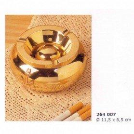 Cenicero de latón con anclitas en cobre