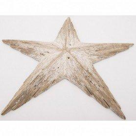 estrella marina decorativa en madera
