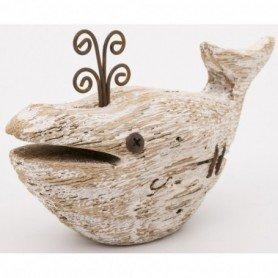 Ballena madera rústica decoración