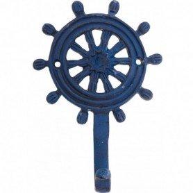 Perchero colgador timón de barco hierro