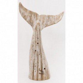 Cola de ballena decorativa en madera