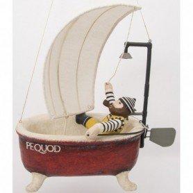 Figura náutica marinero en bañera