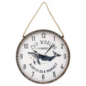 Reloj marinero decorativo ballena