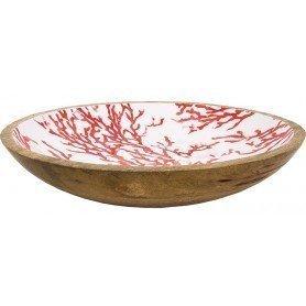 Plato decorativo coral rojo