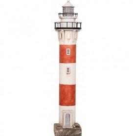 Faro marinero de madera y metal