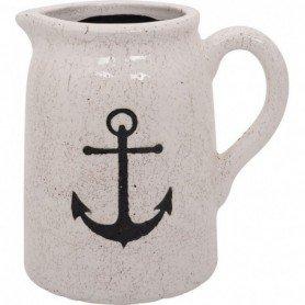 Jarra con asa y motivo marinero