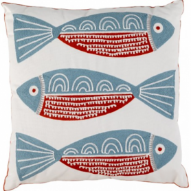 Cojín náutico peces para decoración