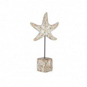 Figura estrella de mar decorativa sobre peana