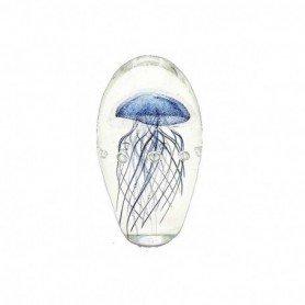 Figura medusa decorativa en cristal