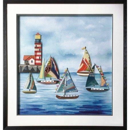 cuadro marinero paisaje collage