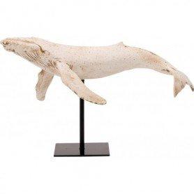 ballena con base en metal
