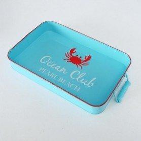 Bandeja cangrejo rojo decoración náutica