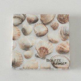 Servilletas decorativas conchas marineras