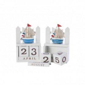 calendario marinero en madera