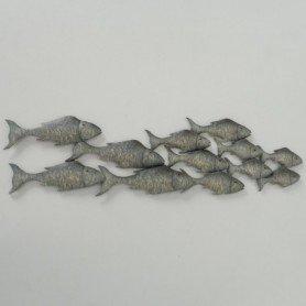 Mural marinero peces de metal