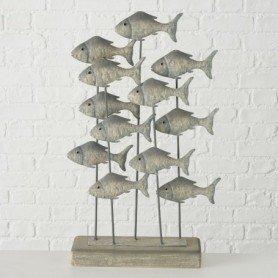 Figura peces marinos en metal