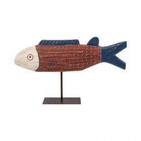 Escultura pez decorativo de madera