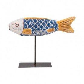 Figura pez náutico sobre peana