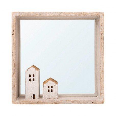 Espejo náutico casitas de madera