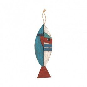 Pez colgante de madera decoración marinera