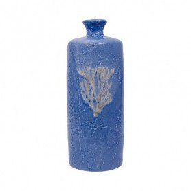 Jarrón náutico azul de cerámica