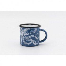 Mini mug pulpo metal esmaltado