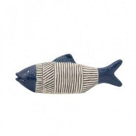 Figura pez decorativo en cerámica azul