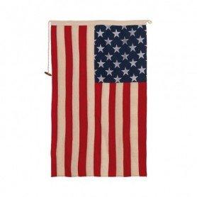 Bandera náutica USA decoración algodón