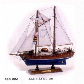 Maqueta de barco goleta T.S.Eendracht