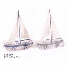 Maqueta náutica de velero rustico